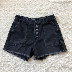 Free People We The Free Black Jean Denim Shorts